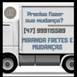Fazemos fretes e mudanças em caminhão baú *