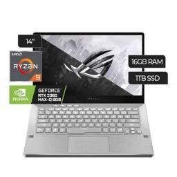 Notebook Gamer Asus Rog Zephyrus G14 AMD Ryzen 9 ( superior ao Intel i9) , 8 núcleos