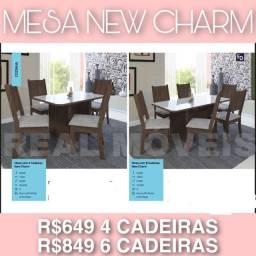 MESA NEW CHARME MESA NEW CHARME   PROMOÇÃO IMPERDÍVEL com 4 cadeiras  649.00