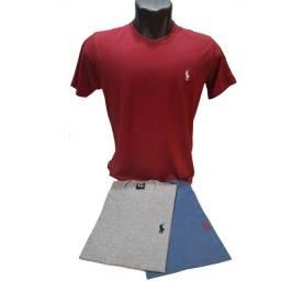 Camisa masculina 100% algodão kit com 3 unidades