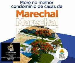Condomínio fechado em Marechal casas c/ 50m2