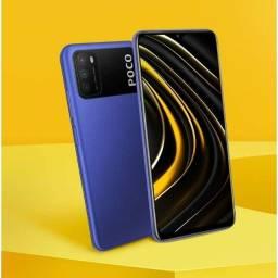 Celular Xiaomi Poco M3 64gb Azul 4gb Ram Lacrado Original.