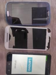 Vendo esses 3 aparelhos celular conjuntamente