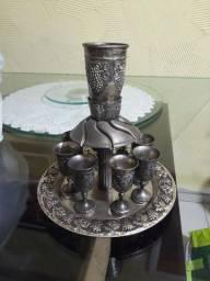 Divisor de vinhos judaico de israel 8 taças prata