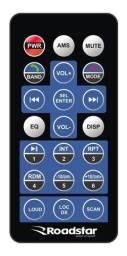 Controle para aparelhos de som automotivo Roadstar (Universal) Novo, sem uso