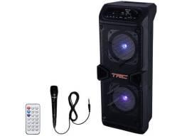 Caixa de Som TRC 5506 Bluetooth Amplificada 60W - com Microfone USB com Tweeter<br><br>