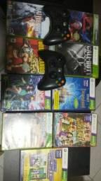 Jogos xbox 360 + controles