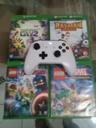 4 jogos+controle de Xbox one