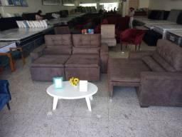 Jogo de sofá retratil e reclinável