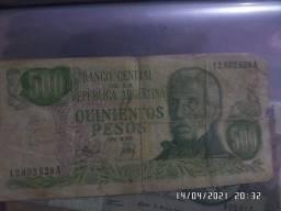Vendo rara nota de 500 pesos argentinos