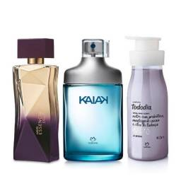 Kit Kaiak Classico Masc + Essecial Exclusivo Fem + Creme