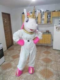 Fantasia mascote Unicórnio e Zé Coméia