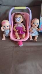 baby alive funcionando e mais duas bebê faz xixi