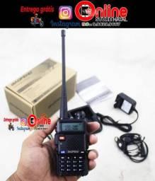 Rádio Comunicador Ht Dual Band Uhf Vhf Uv-5r Fm Fone Ptt<br>