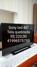 Sony 40 led bravia  tela quebrada