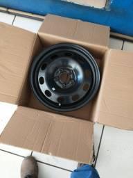 Jogo roda de ferro aro 15 5x100 original Volkswagen polo/virtus zero km