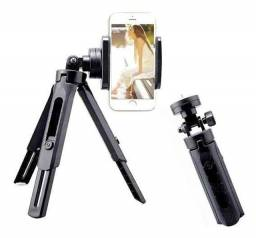 mini tripé de mesa p/ camera e celular 360º renux