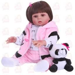 Bebê Reborn siliconada panda