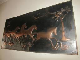 Quadro de Bronze - Cavalos em 3D