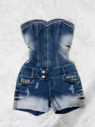 Vendo Macacão Jeans Marca Golstt Deluxe! Lindo!!