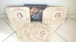 """Discos de vinil Coleção com 08 discos """"Great Musics Greatest Hits"""" - Beethoven, Mozart."""