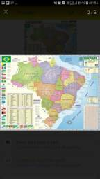 Mapa do Brasil 120x90 cm