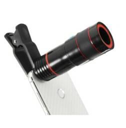 Telescópio para smartphones zoom 12 x, android e ios, vidro de alta qualidade.