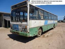 Ônibus M. Benz OF 1318 ano fab./mod 1991 - 1991
