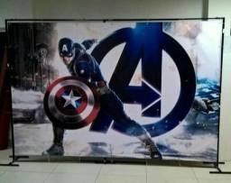 Painel capitão América 3x2 alta resolução