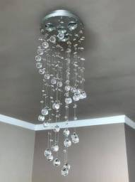 Lustre plafón de cristal