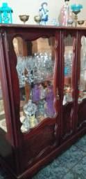 Cristaleira Antiga Em Jacarandá