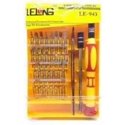 Kit Jogo Chave Precisão 32 Em 1 Le-943 Lelong Celular Fenda Phillips Torx Allen Y