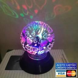 Produto novo na caixa !! Luminária Led Bola Vidro Magico 3d Criativo Enfeite
