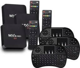 Kit smart tv box com teclado novo lacrado inova entregamos em sua residência