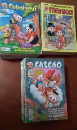 Gibis Mônica, Cebolinha, Cascão, Chico Bento, Mickey, Pateta, Donald, Tio Patinhas
