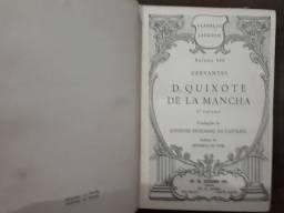 Livros antigos: D. Quixote (Cevantes) e O Gênio do Cristianismo (Chateaubriand)