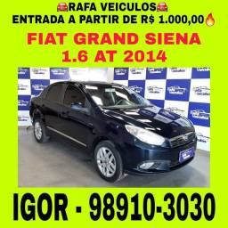 Grand Siena 1.6 aut 2014 1 mil de entrada, falar com Igor na Rafa veículos cc