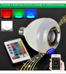 Lampada Musical De Led Bulbo Bluetooth Rgb + Contro