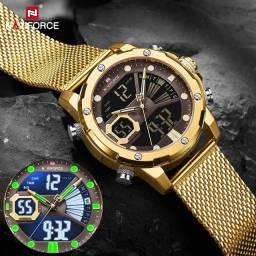 Relógio Top de Luxo Naviforce 9172 Esporte Digital e Analógico Original