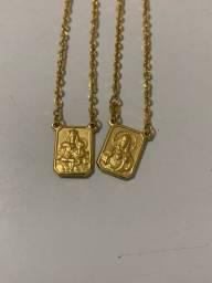 Escapulário de ouro 18k - Corrente de ouro