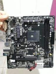 Placa mãe AMD A320M (Defeituosa)