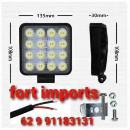 Kit farol auxiliar led para carros e caminhão 12v e 24v