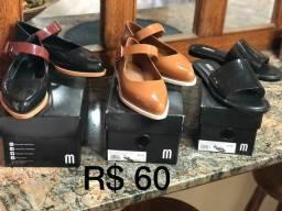 Sapatos femininos nr 34 ..tudo por 45 reais o par