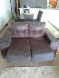 Jogo de sofá retrátil 2 e 3 lugares usado