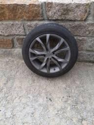 Pneus e rodas 17 ótimo estado pneus praticamente NOVOS
