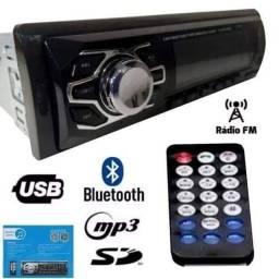 Som Automotivo Mp3 Bluetooth USB Rádio FM Aux Controle Inova