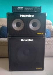 Set Hartke Ha3000 + Caixas 210tp E 115tp