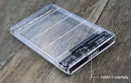 Case Hd Externo Usb 3.0 Transparente