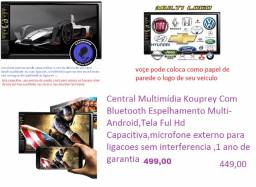 multimidia mp5 kouprey ,tela 7 HD capacitiva ,radio ,bluetooth ,espelhamento ,novas