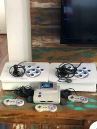 Super Nintendo com 2 Árcades e 4Controles Originais